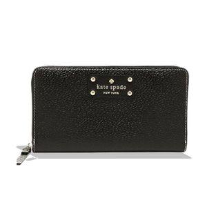 Kate Spade Black Wellesley Neda Zip Around Wallet